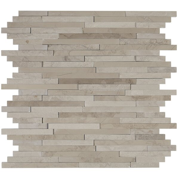 Harrison Random Sized Marble Mosaic Tile in Silver Screen by Itona Tile