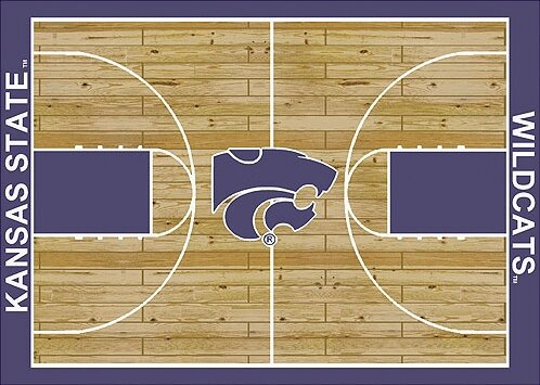 NCAA College Home Court Kansas State Novelty Rug by My Team by Milliken