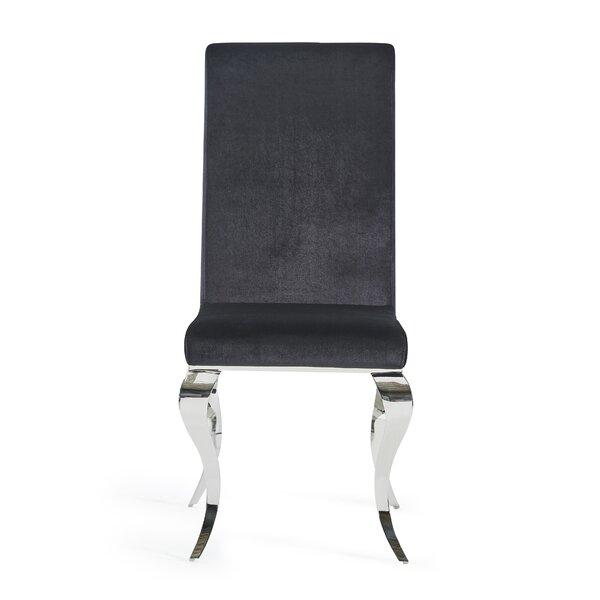 Wellings Velvet Upholstered Dining Chair by Orren Ellis