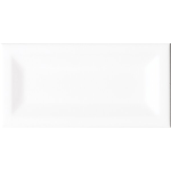 Verted Beveled 3 x 6 Ceramic Subway Tile in Glossy White by MSI
