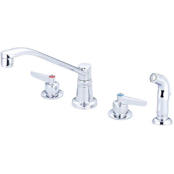 Concealed Ledge Double Handle Kitchen Faucet by Central Brass