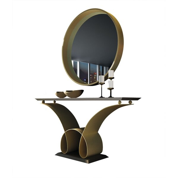 Review Koski Console Table And Mirror Set (Set Of 2)