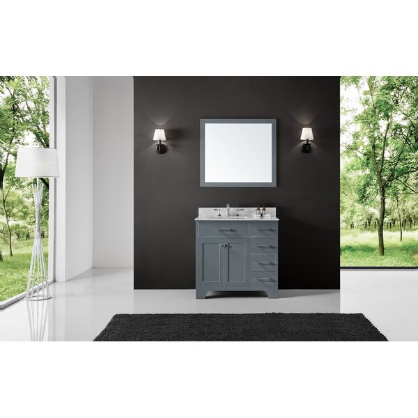 Cassel 36 Single Bathroom Vanity Set with Mirror by Highland Dunes