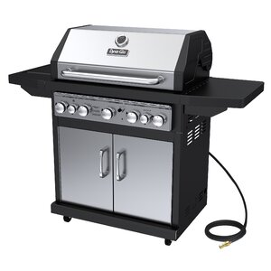 5-Burner Natural Gas Grill with Side Burner