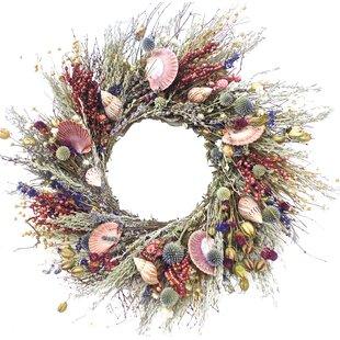 clam and conch 22 wreath - Beach Christmas Wreath