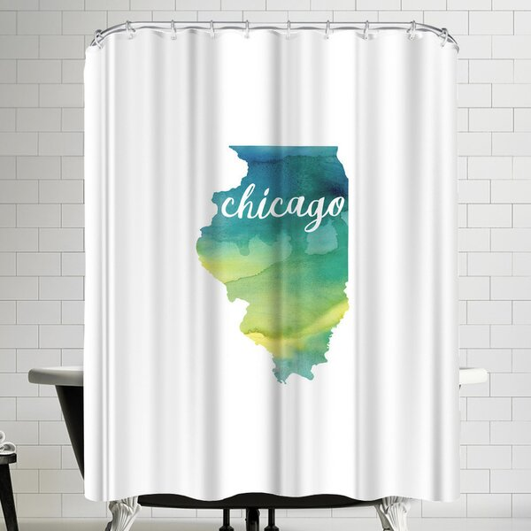 Paperfinch IL Chicago Shower Curtain by East Urban Home