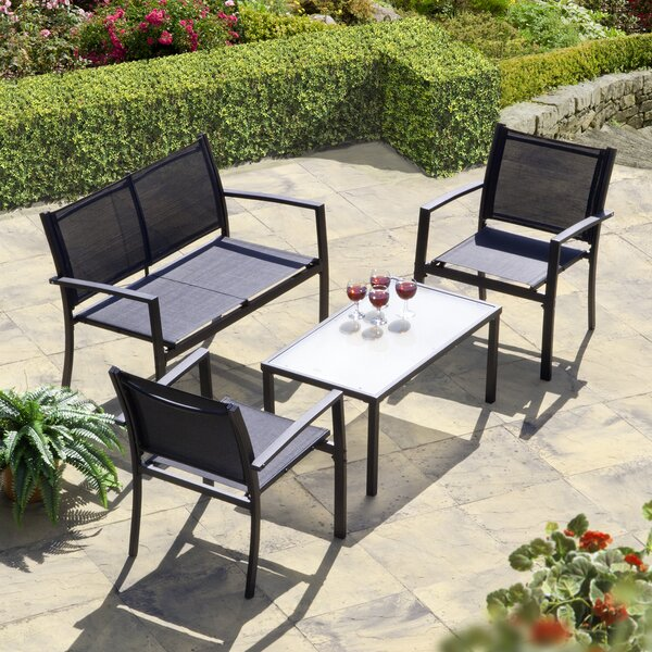 Brasilia 4 Piece Sofa Seating Group by SunTime Outdoor Living