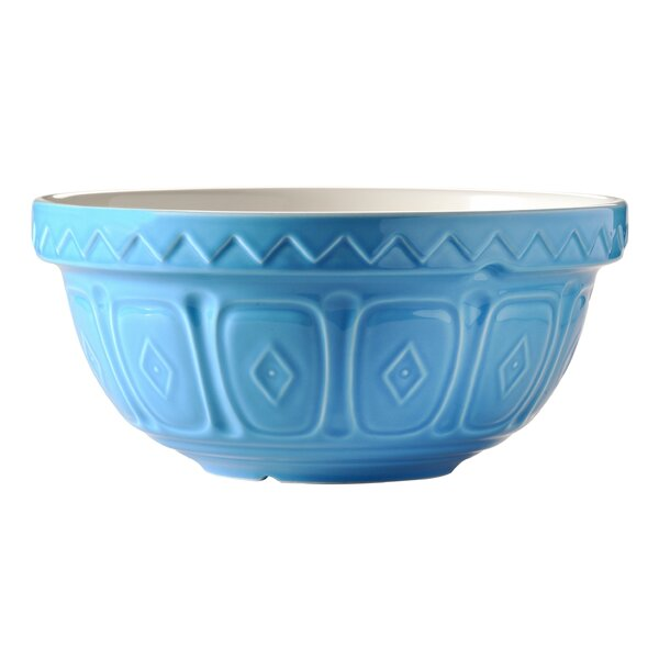 Blue Stoneware Mixing Bowl by Mason Cash