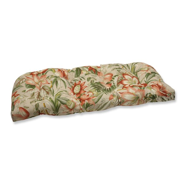 Botanical Glow Indoor/Outdoor Loveseat Cushion by Pillow Perfect