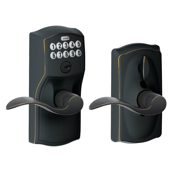 Accent Keypad Lever with Camelot Trim by Schlage