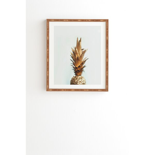 The Gold Pineapple Framed Photographic Print by East Urban Home