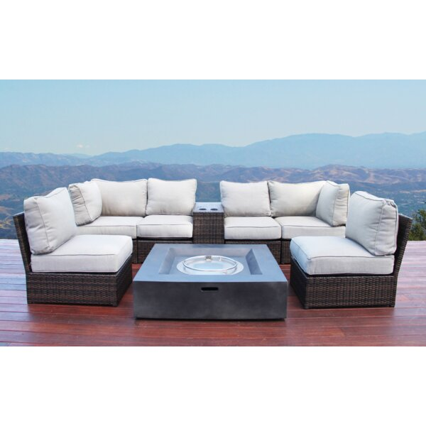Widener 8 Piece Sectional Seating Group with Cushions by Sol 72 Outdoor