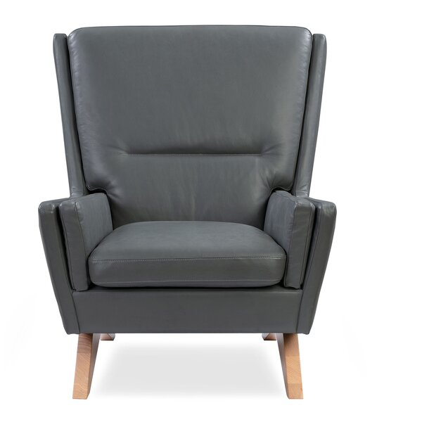 Dorcey Leather Armchair By Orren Ellis
