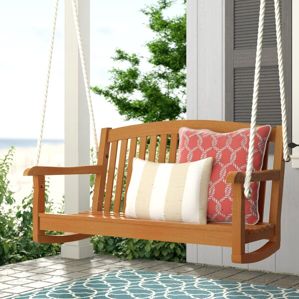 Portland Teak Porch Swing by Beachcrest Home