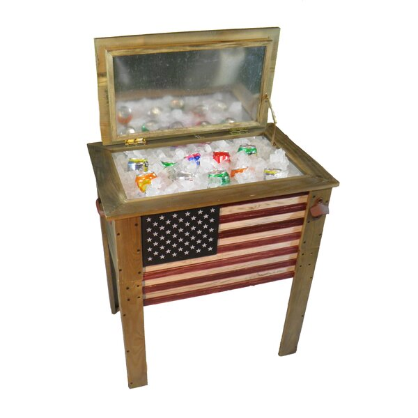 57 Qt. Decorative Outdoor American Flag Cooler by