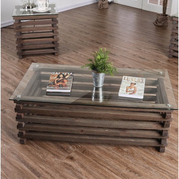 Fiecke Abstract Coffee Table By Union Rustic