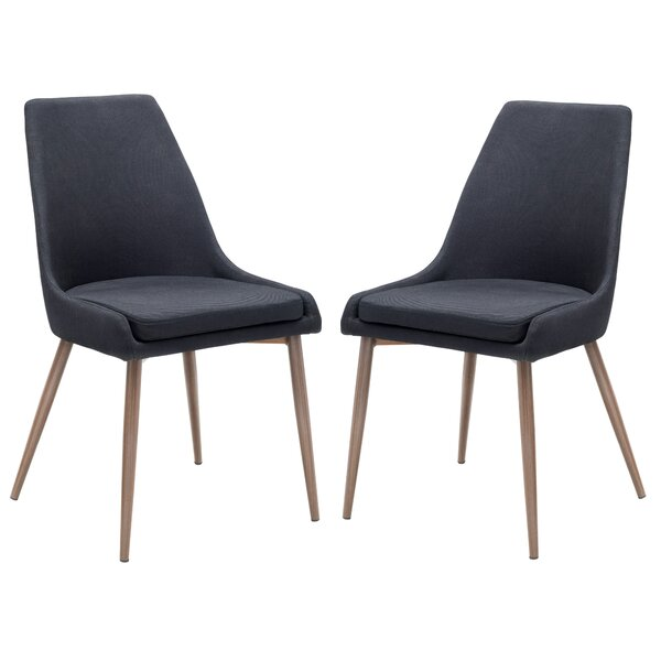 #2 Bibler Upholstered Dining Chair (Set Of 2) By Wrought Studio Discount