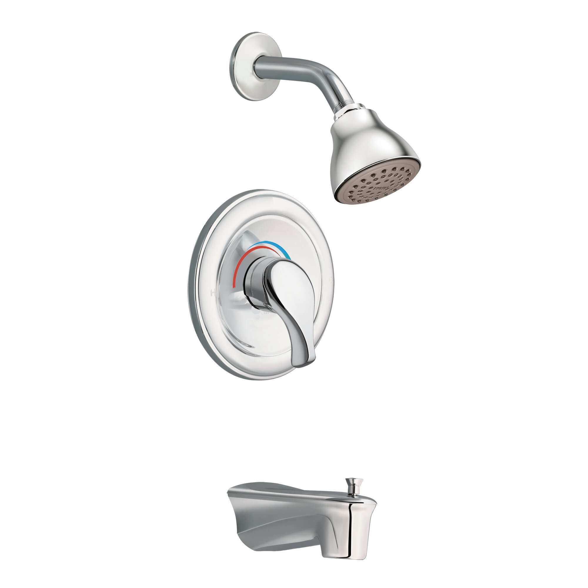 Legend Single Handle Tub And Shower Faucet Trim With Lever Handle And Moentrol