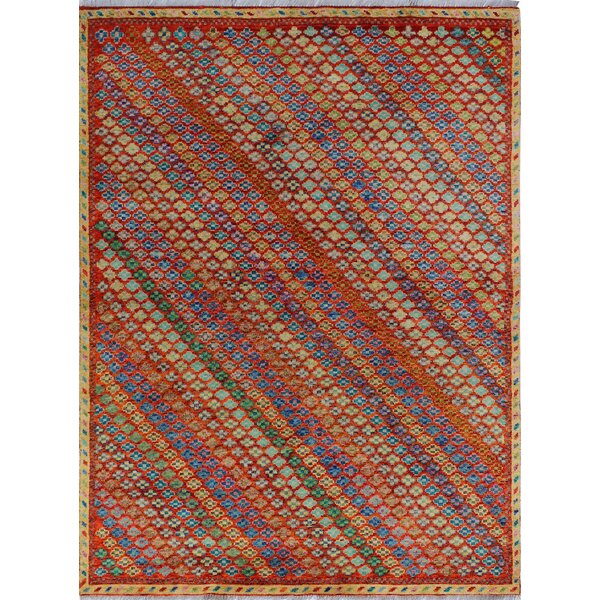 One-of-a-Kind Millender Chijioke Hand-Knotted Wool Red Area Rug by Bloomsbury Market