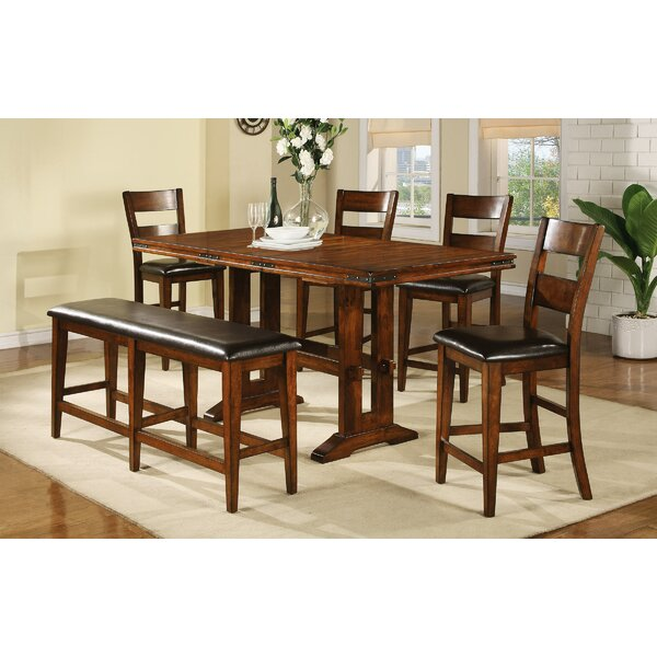 Nashoba 6 Piece Drop Leaf Dining Set by Loon Peak