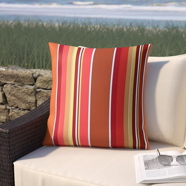 Cherryvale Mango Outdoor Sunbrella Throw Pillow by Red Barrel Studio