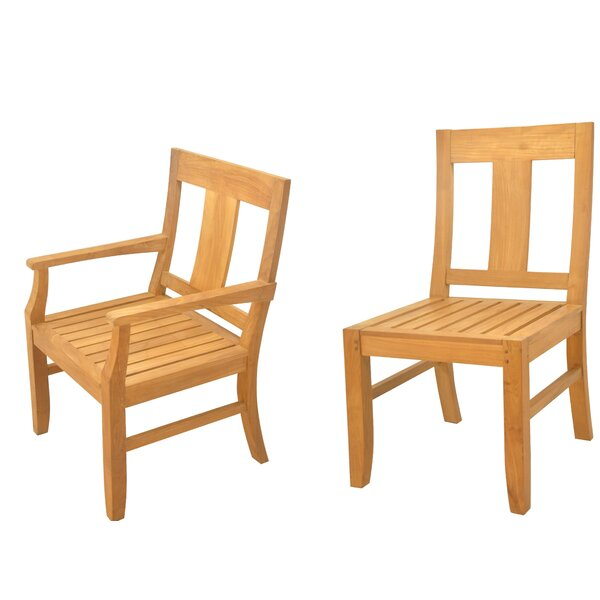 Kevon 5 Piece Teak Dining Set by Rosecliff Heights