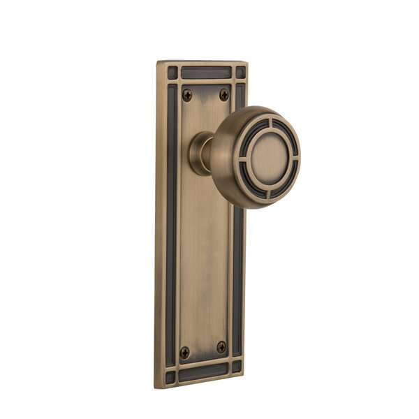 Mission Single Dummy Door Knob with Mission Plate by Nostalgic Warehouse