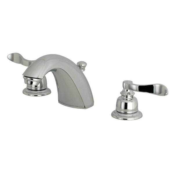 NuWave French Mini-Widespread Bathroom Faucet with Drain Assembly by Kingston Brass Kingston Brass