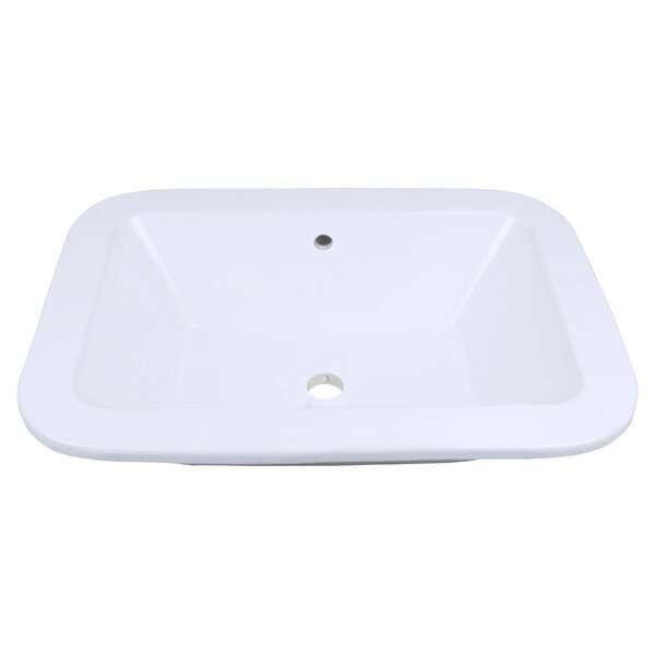 Ceramic Rectangular Drop-In Bathroom Sink with Overflow by Royal Purple Bath Kitchen