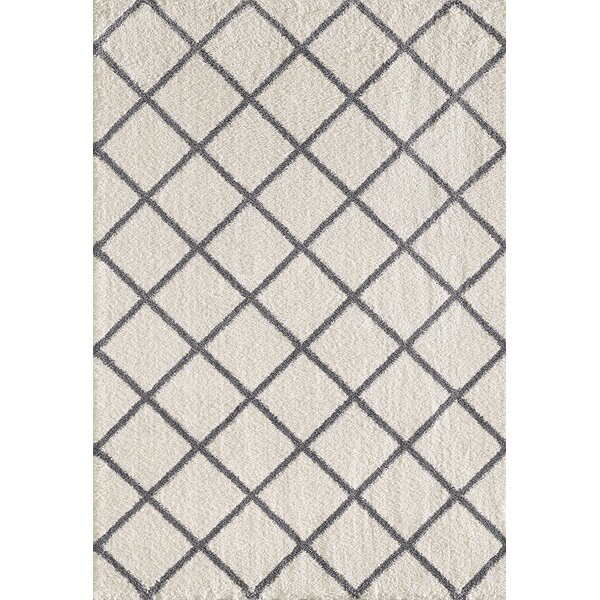 Lowes Ivory/Gray Area Rug by Winston Porter