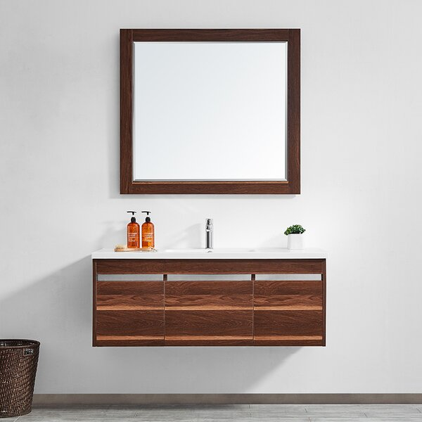 Adalynn 48 Single Bathroom Vanity with Mirror by Wrought Studio