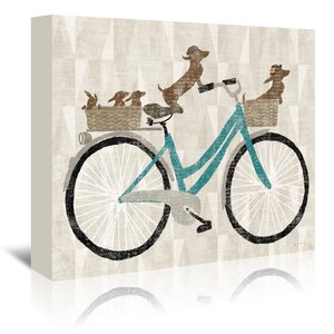 'Doxie Ride Ver II' Graphic Art on Wrapped Canvas by East Urban Home