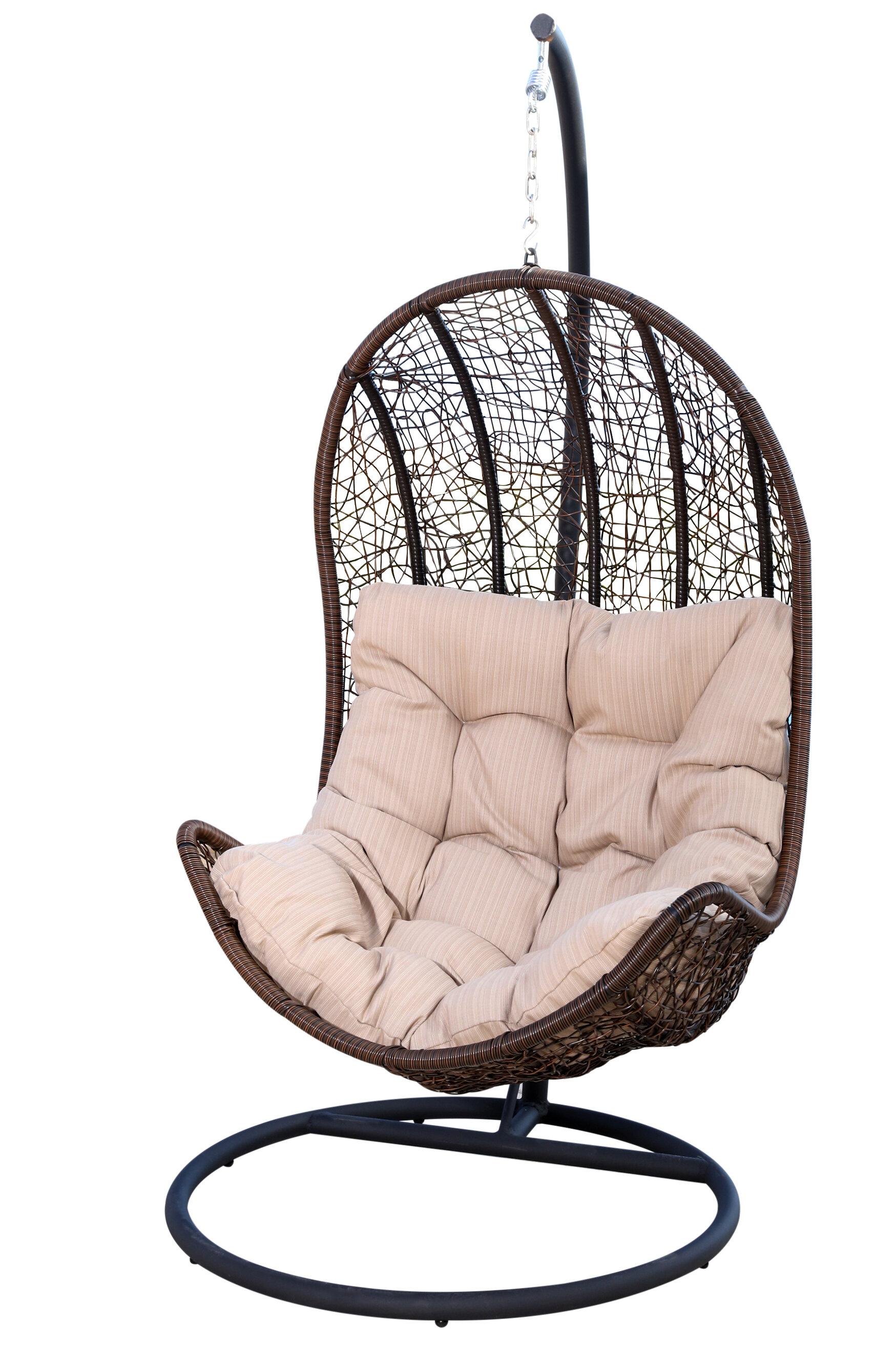 World Menagerie Ghazali Eggshaped Swing Chair With Stand U0026 Reviews | Wayfair