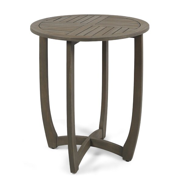 Rodarte Wooden Bistro Table by Bungalow Rose