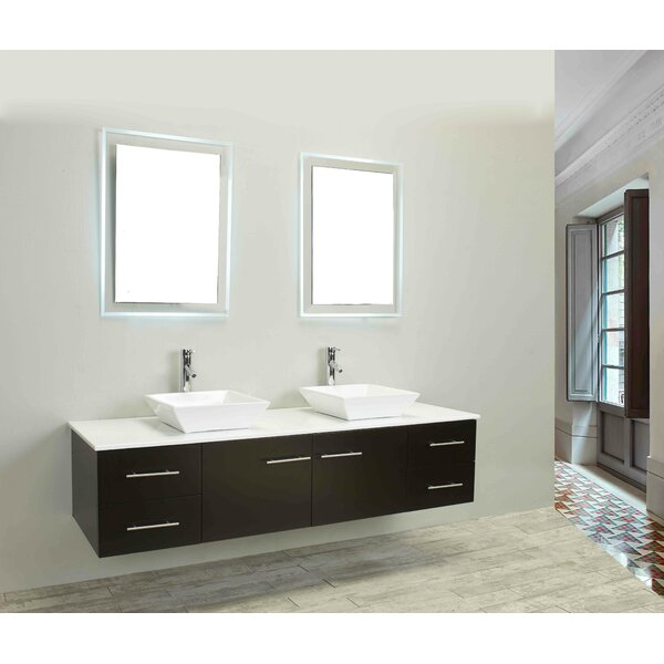 Vinit 60 Wall-Mounted Double Bathroom Vanity Set by Orren Ellis