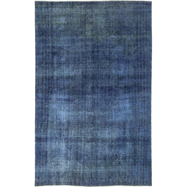 One-of-a-Kind Eisenman Hand-Knotted Wool Blue Indoor Area Rug by 17 Stories
