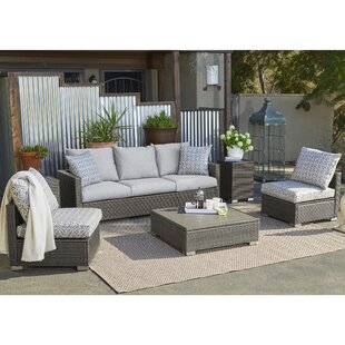 Mcmanis 6 Piece Rattan Sofa Seating Group with Cushions By Ivy Bronx