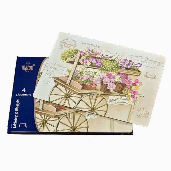 Fleurs Flower Garden Laminated Placemat (Set of 4) by Whole House Worlds