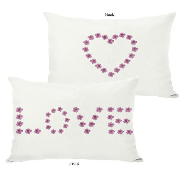 Love Mini Flowers Reversible Lumbar Pillow by One Bella Casa