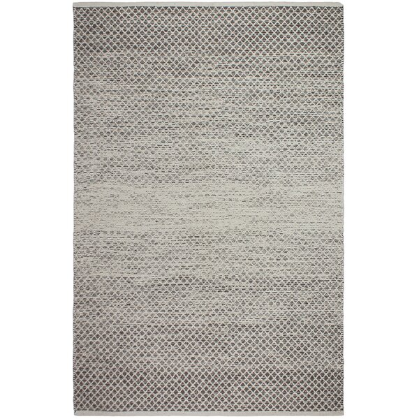 Avanley Hand-Woven Cotton Gray/White Area Rug by Bungalow Rose