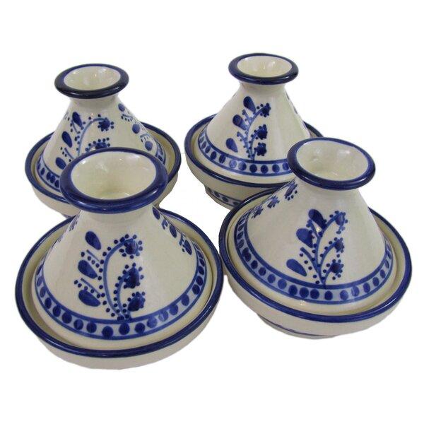 Azoura 0.035 Qt. Stoneware Round Tagine (Set of 4) by Le Souk Ceramique