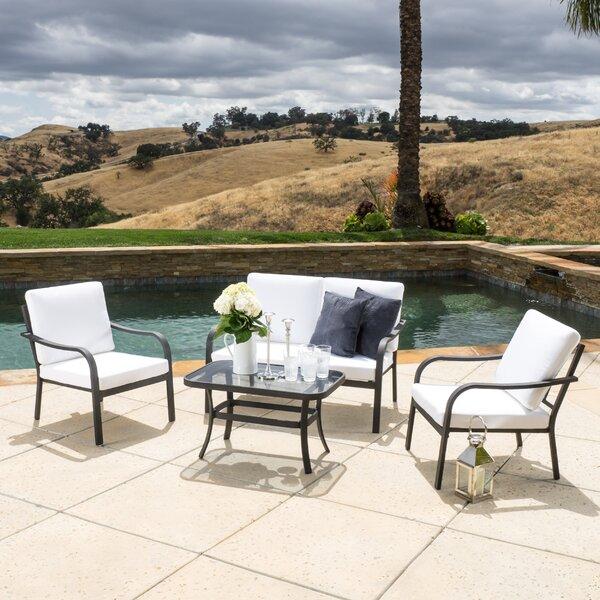 Las Palmas 4 Piece Sofa Set with Cushions by Home Loft Concepts