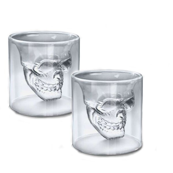 Double Skull Shot Glass (Set of 4) by Brilliant
