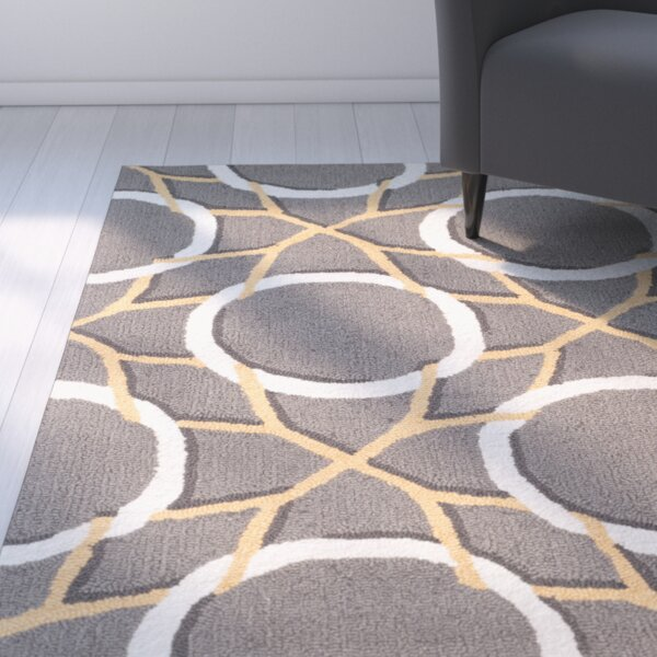 Finley Gray/Ivory Area Rug by Latitude Run