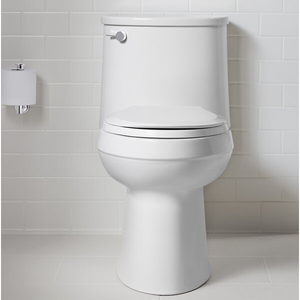 Adair Comfort Height One-Piece Elongated 1.28 GPF Toilet with Aquapiston Flushing Technology and Left-Hand Trip Lever by Kohler