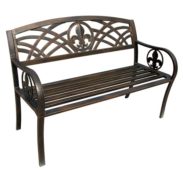 Michelle Metal Garden Bench by Fleur De Lis Living