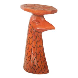 African Eagle Wood End Table