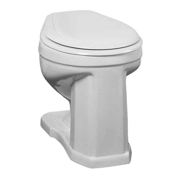 Victoria High 1.6 GPF Round Toilet Bowl by Barclay