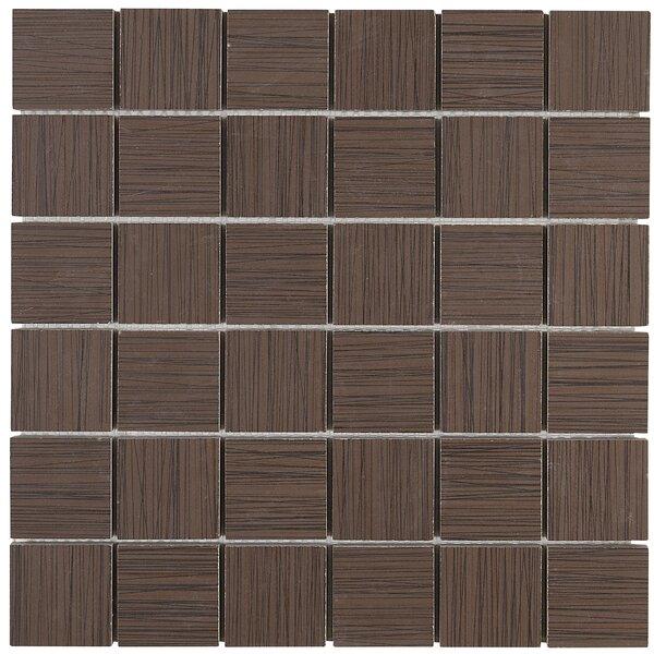 Fabrique 12 x 12 Porcelain Wood Look Tile in Brun Linen by Daltile