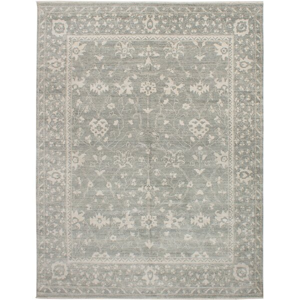 One-of-a-Kind Haleburg Hand-Knotted Gray Area Rug by Isabelline